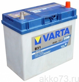 Аккумулятор 6СТ-45 VARTA Blue Dynamic В31 JIS т.к. обр.пол.